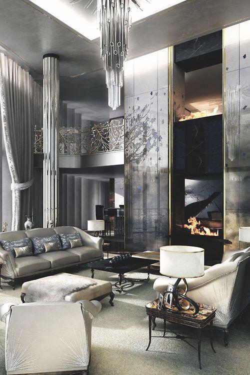 Glamorous silver interior