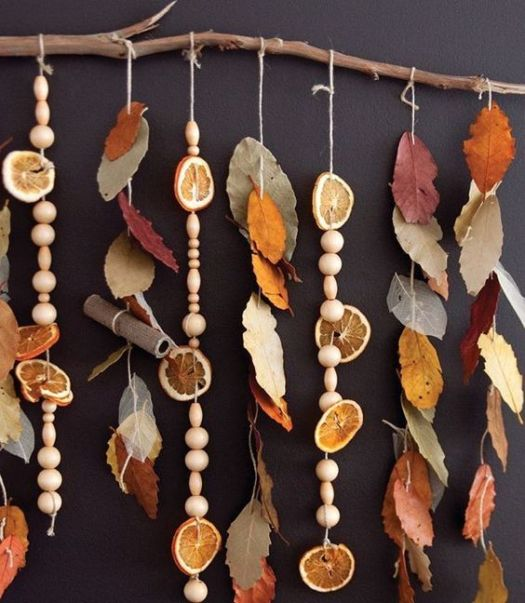 DIY autumn decorations in the home